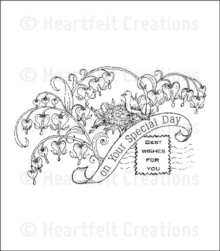 HCPC 3640 ~HOME IS WHERE THE HEART IS  PreCut Set ~ Romantique Garden Collection ~  Heartfelt Creations